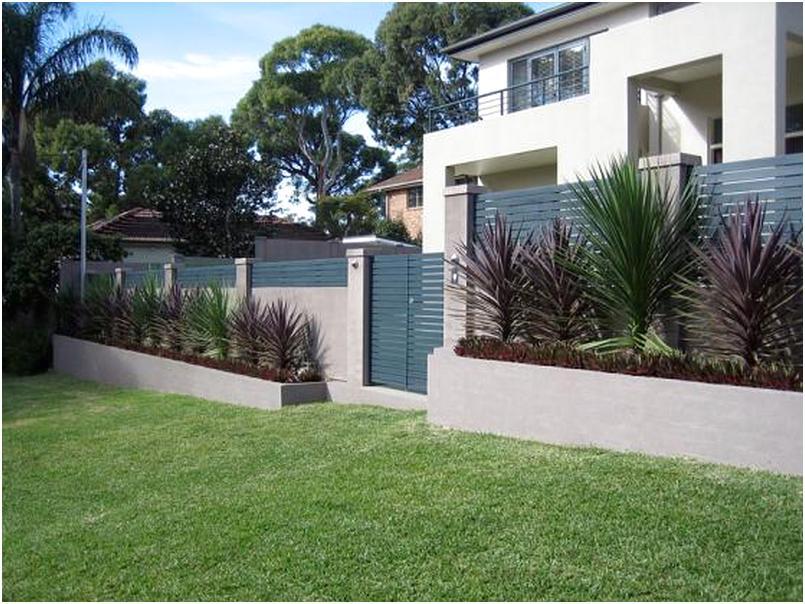 model desain pagar rumah minimalis cantik rapi menawan elegan mewah modern terbaru