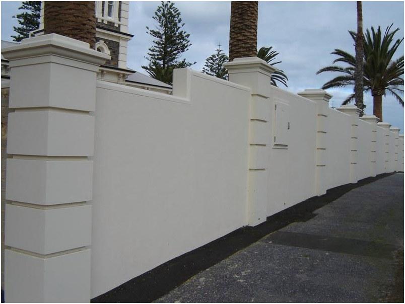 model desain pagar tembok beton rumah minimalis modern mewah terbaru