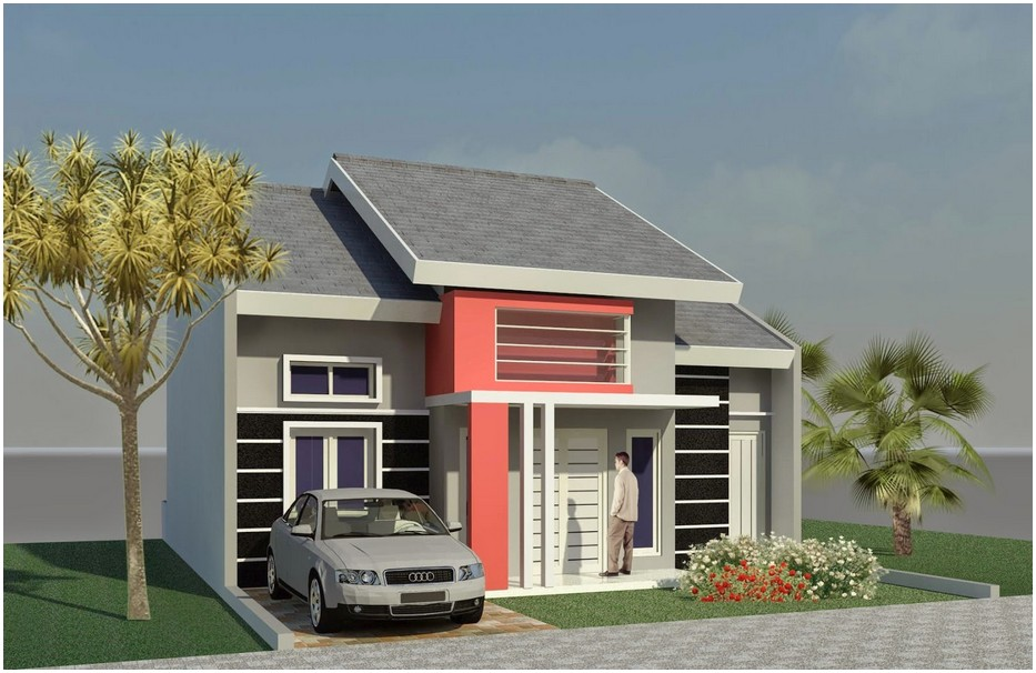 Model desain rumah minimalis 1 lantai mewah nyaman elegan abu abu terbaik tren masa kini