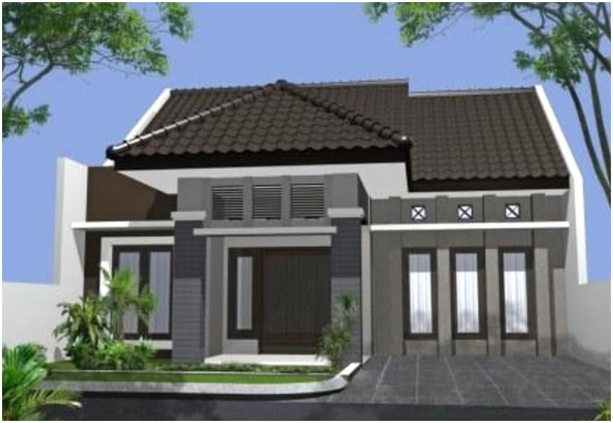 Model desain rumah minimalis 1 lantai mewah nyaman elegan kokoh kuat tampak depan