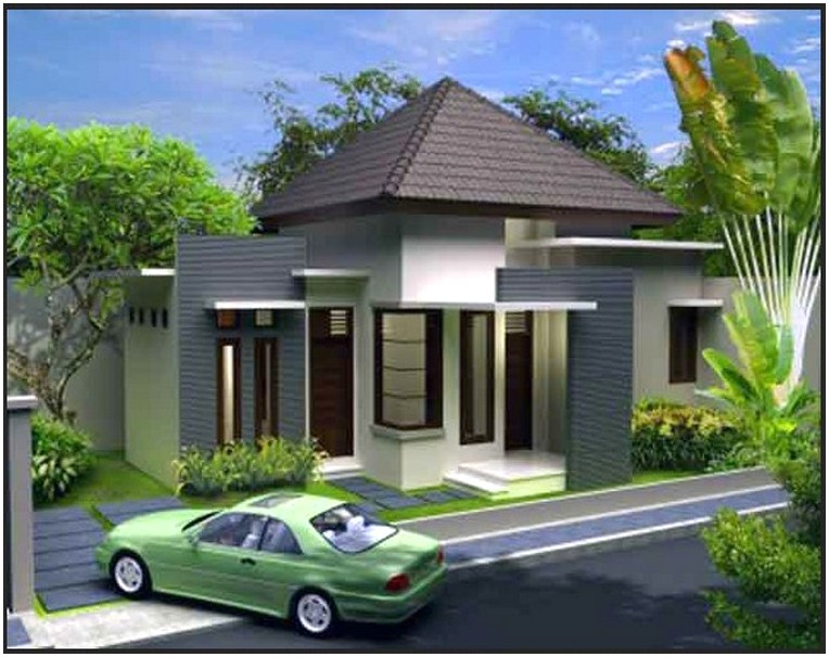 Model desain rumah minimalis 1 lantai mewah nyaman elegan konsep modern warna putih terbaik