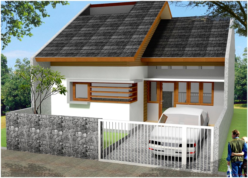 Model desain rumah minimalis 1 lantai mewah nyaman elegan tampak depan warna putih istimewa terbaru