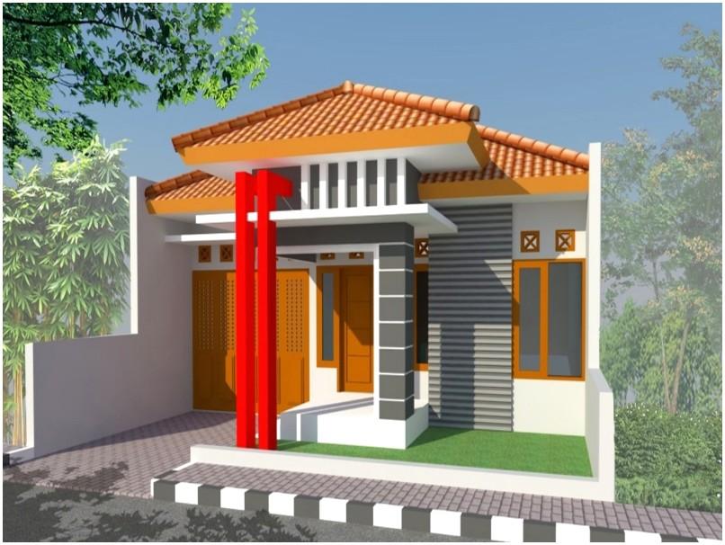 Model desain rumah minimalis 1 lantai mewah nyaman elegan terbaru masa kini tampak depan