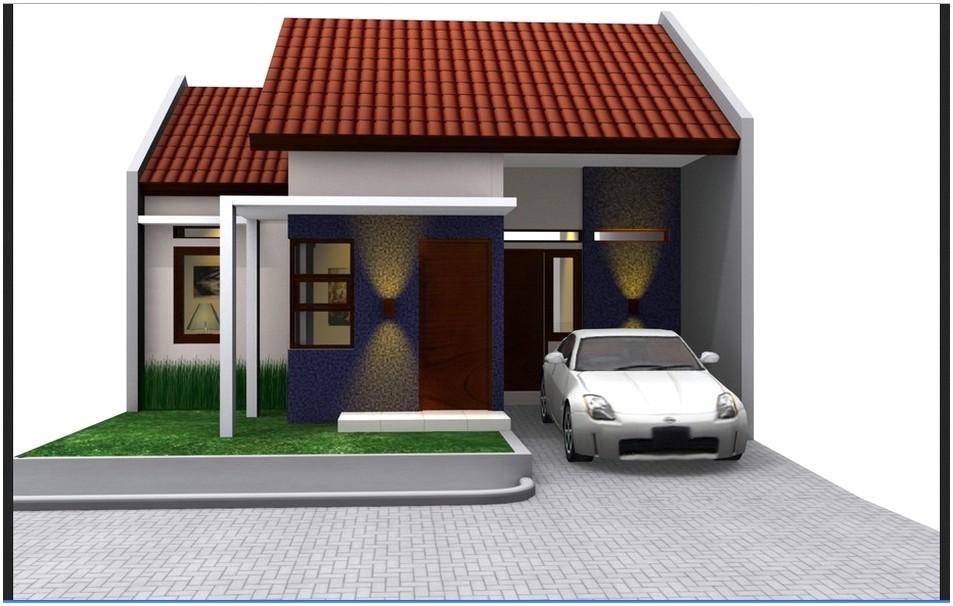 Model desain rumah minimalis 1 lantai mewah nyaman elegan warna putih tampak depan