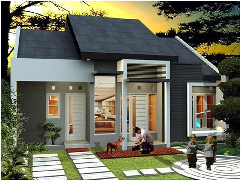 Model desain rumah minimalis 1 lantai modern nyaman istimewa warna putih berpadu abu-abu