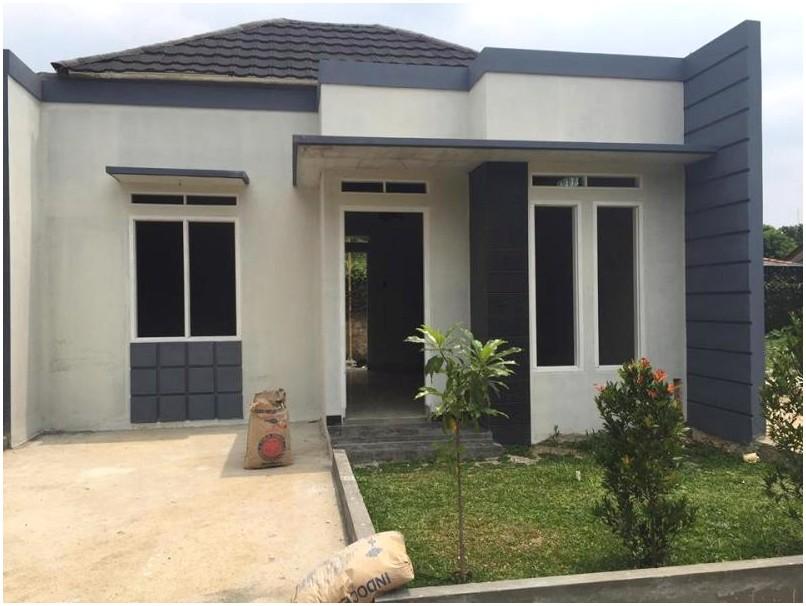 Model desain rumah minimalis 1 lantai nyaman warna gray krem