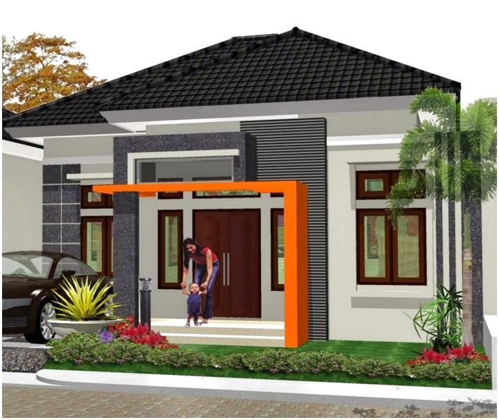 Model desain rumah minimalis 1 lantai terkini tampak depan warna putih