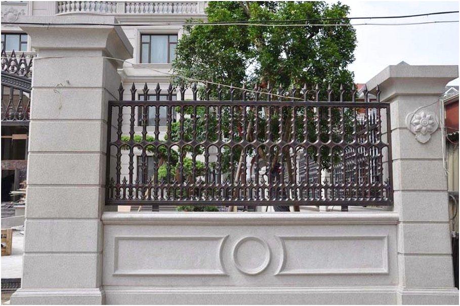 model desain tembok pagar rumah cantik minimalis beton mewah modern klasik terbaru