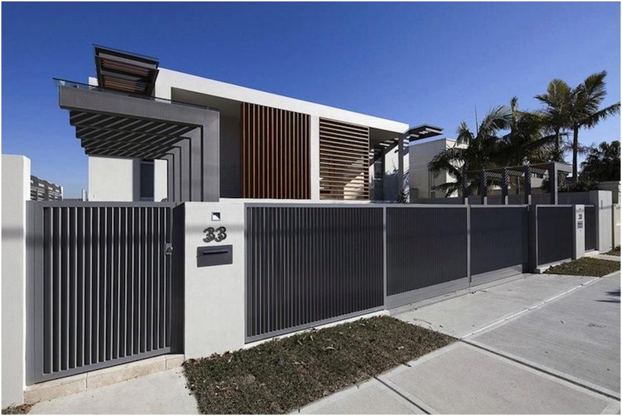 pagar rumah minimalis mewah modern terbaru