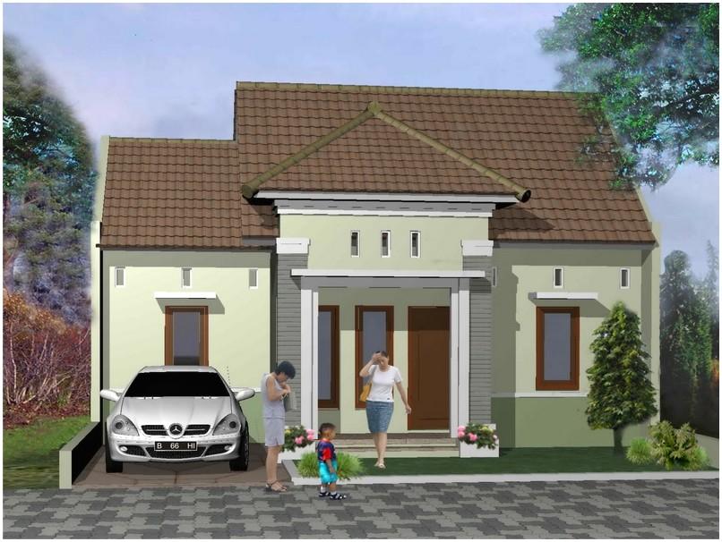 Sempurna model desain rumah minimalis 1 lantai mewah nyaman elegan warna putih tampak depan