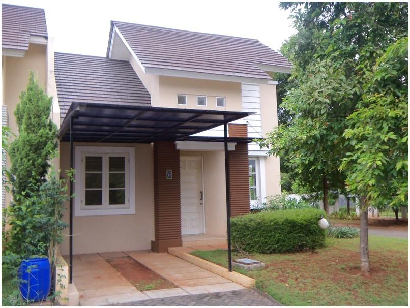 Terbaik model desain rumah minimalis 1 lantai mewah nyaman elegan krem tampak depan