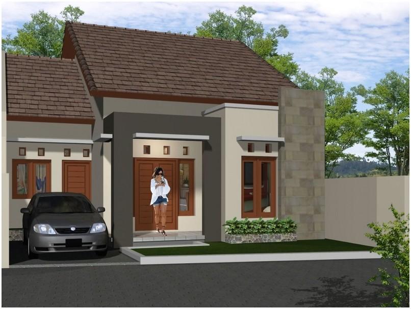 Terbaik model desain rumah minimalis 1 lantai mewah nyaman elegan modern dengan batu alam tampak depan