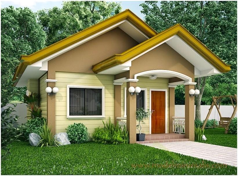 Terbaru model desain rumah minimalis 1 lantai mewah nyaman elegan tampak depan warna cokelat muda asri dan modern