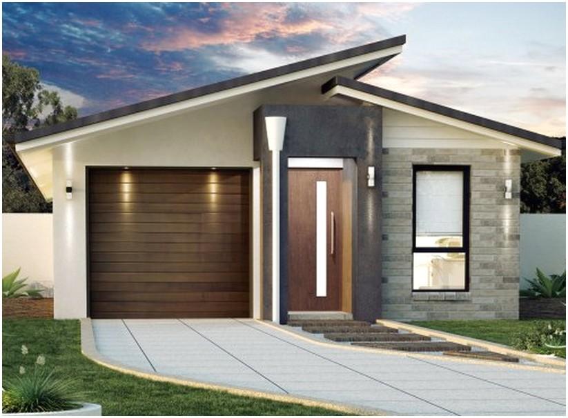 Teristimewa model desain rumah minimalis 1 lantai mewah nyaman elegan modern tampak depan warna krem