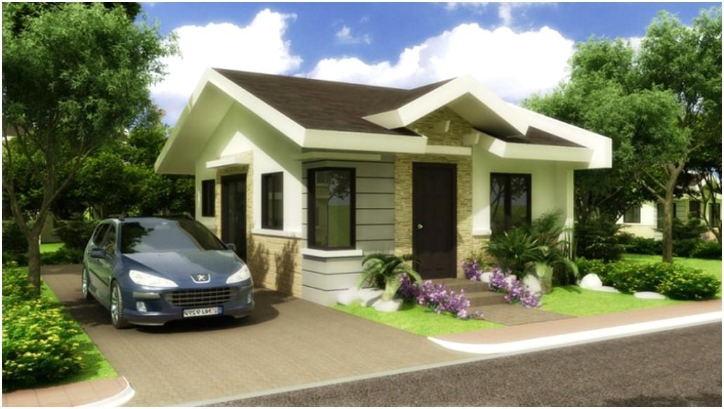 Terungkap model desain rumah minimalis 1 lantai mewah nyaman elegan warna putih krem atap cokelat tua tampak depan