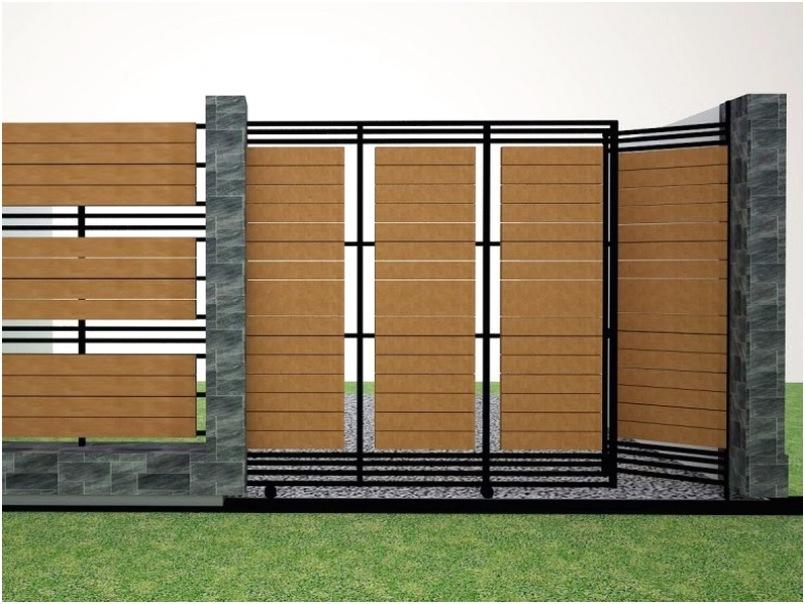 unik mempesona desain pagar rumah minimalis mewah modern terbaru