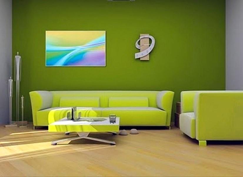Cat Ruang Tamu Minimalis Hijau