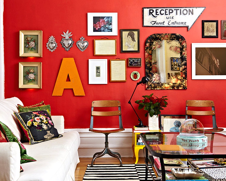 Contoh Warna Cat Ruang Tamu Berwarna Merah