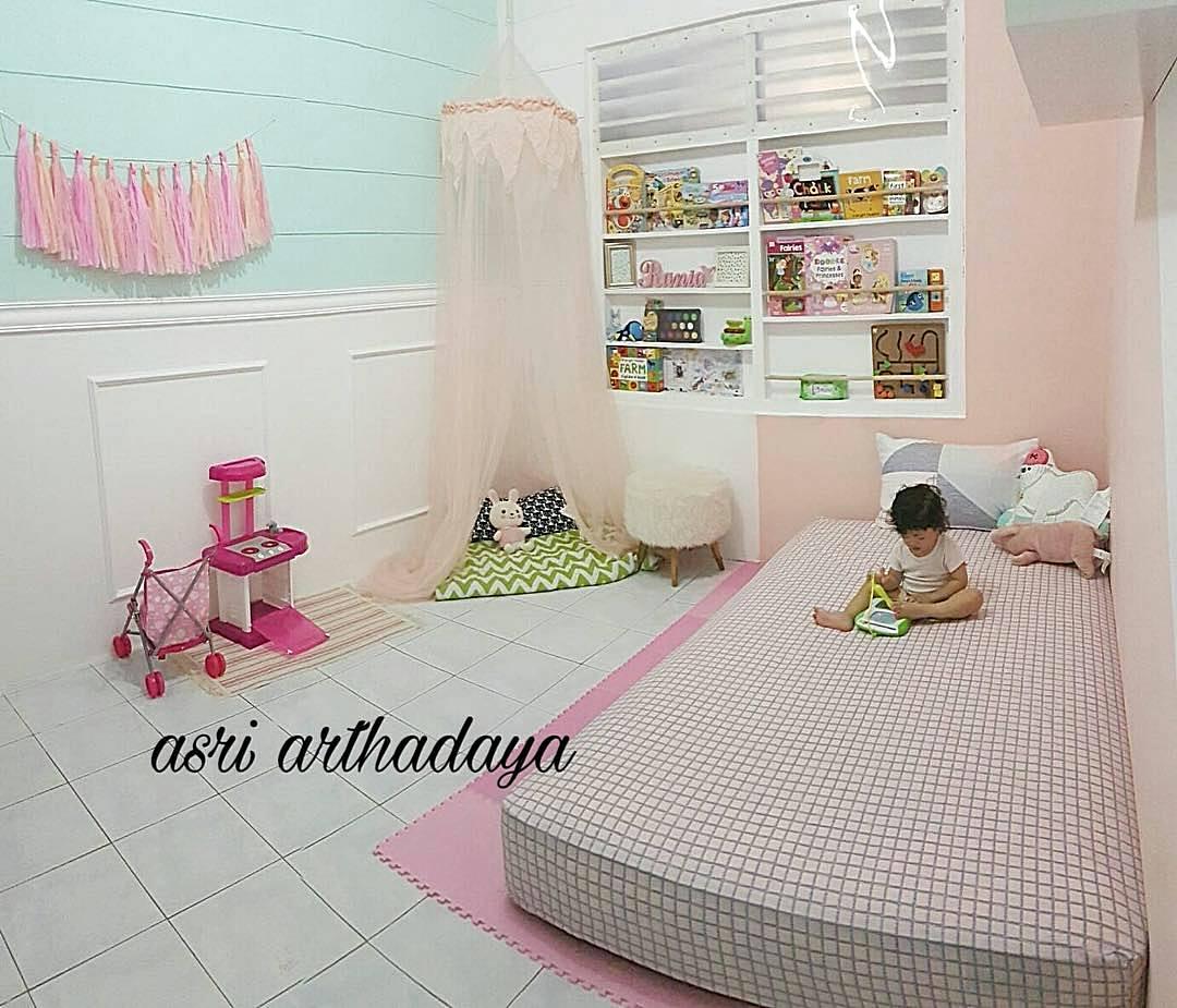 Dekorasi Kamar Anak Perempuan Unik Lucu Pink