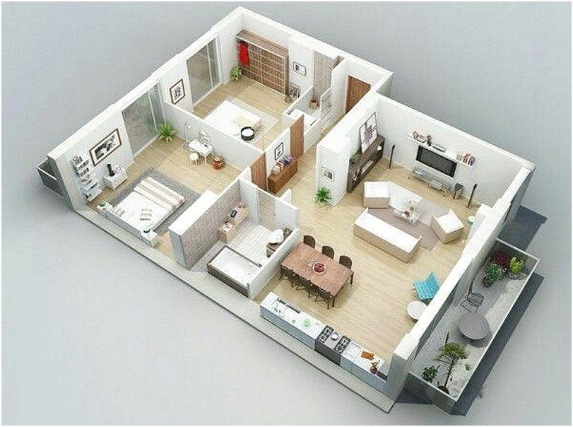 Denah Rumah 2 Kamar Tidur Minimalis Terbaru