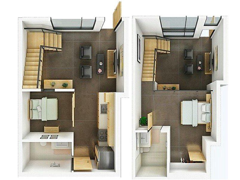 denah rumah mungil 2 lantai rumah idaman 2017