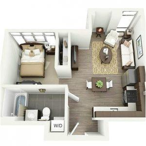 71 gambar denah rumah minimalis sederhana 3d terbaru