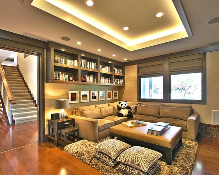 Desain Plafon Ruang Tamu Mungil Sederhana