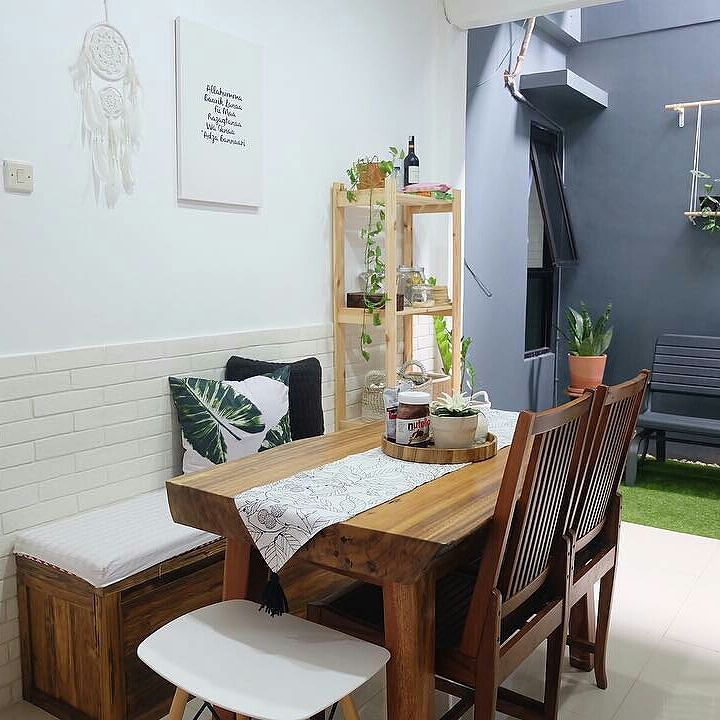 Desain Ruang Keluarga Menyatu Dengan Ruang Makan Minimalis Modern 2019