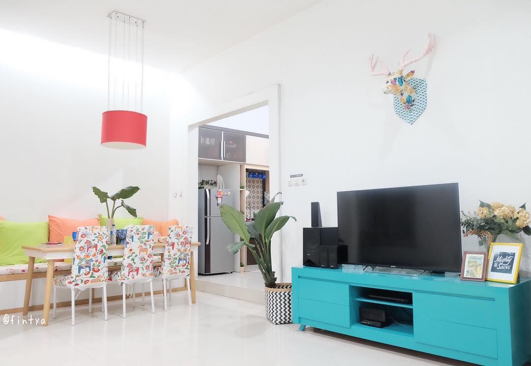Desain Ruang Keluarga Menyatu Dengan Makan Minimalis