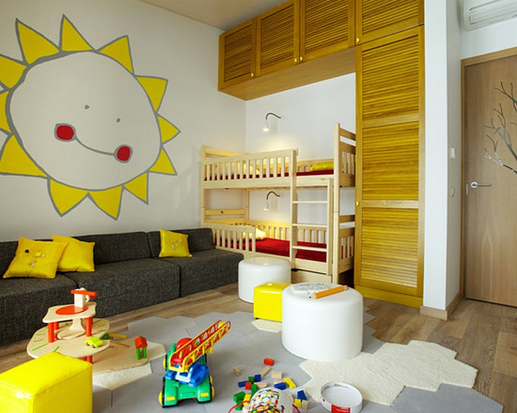 Desain Sofa Unik Ruang Tamu Minimalis Anak