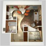 Desain Denah Rumah Sederhana 2 Kamar Tidur Terbaru