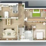 Desain Sketsa Denah Rumah Kecil 2 Kamar Tidur Besar Terbaru