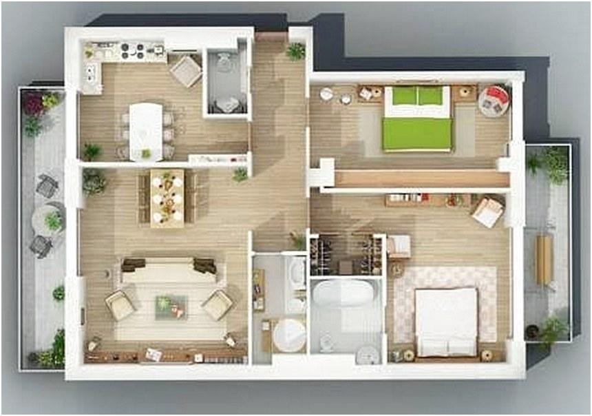 & 71 Gambar Denah Rumah Minimalis Sederhana 3D Terbaru | Dekor Rumah