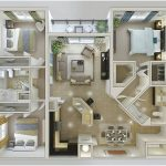Desain Sketsa Denah Rumah Minimalis 3 Kamar Tidur 3D
