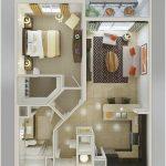 Desain Sketsa Denah Rumah Sederhana 1 Kamar Tidur