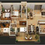 Desain Sketsa Denah Rumah Sederhana 3 Kamar Tidur