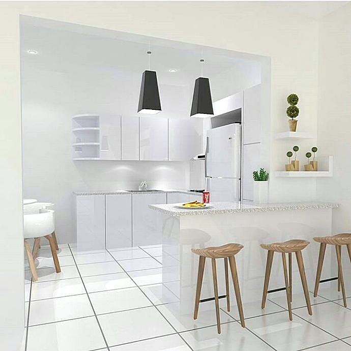 95 kitchen set minimalis sederhana modern terbaru dekor for Kitchen set warna putih