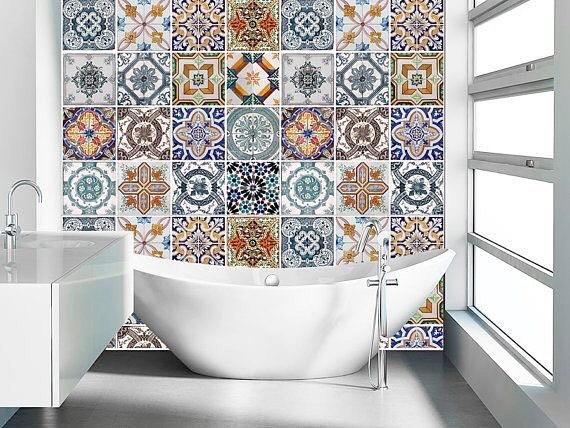 63 model motif keramik kamar mandi minimalis terbaru 2019 dekor rumah - Orientalische wandgestaltung ...