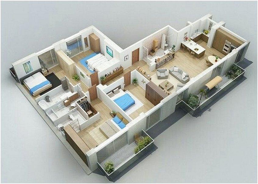 71 Gambar Denah Rumah Minimalis Sederhana 3d Terbaru Dekor Rumah