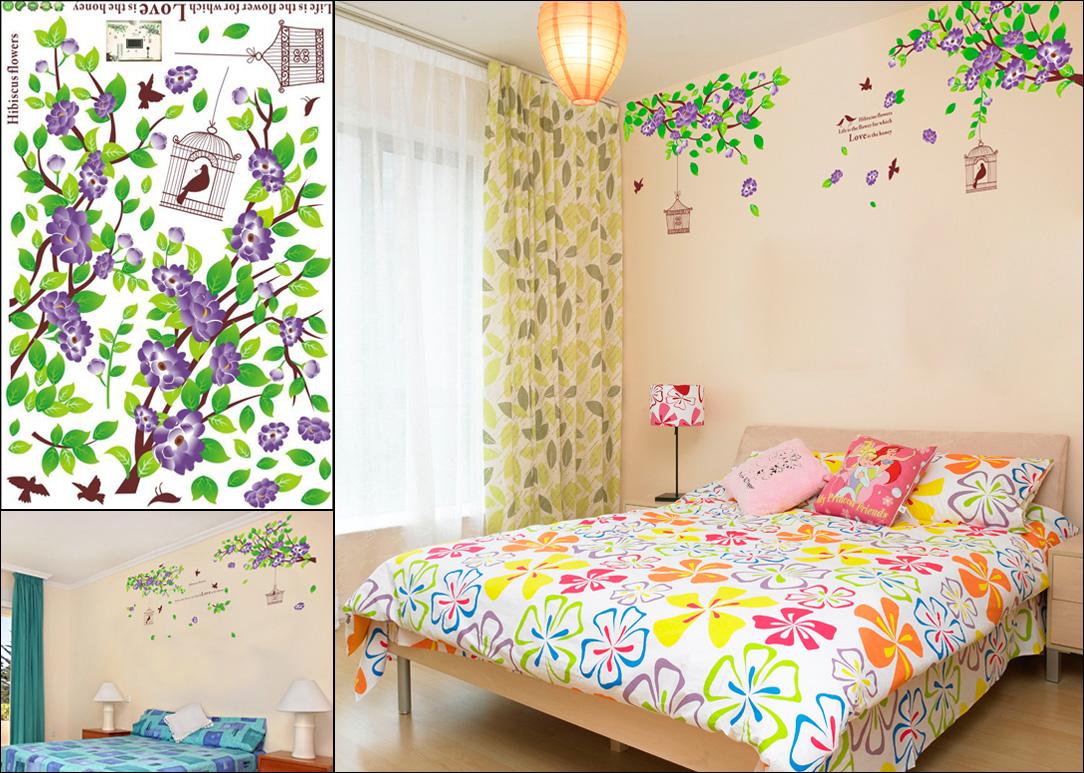 Hiasan Dinding Kamar Dengan Wallpaper Sticker