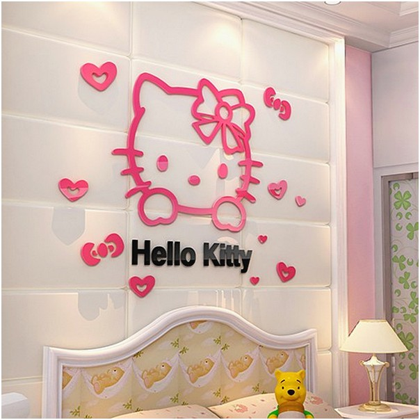 Hiasan Dinding Kamar Model Hello Kitty