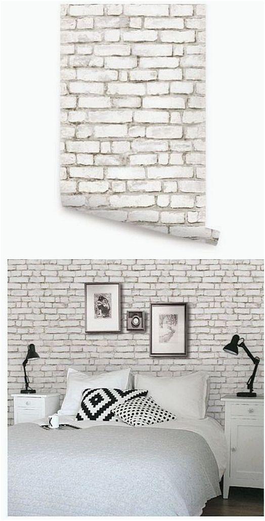 Hiasan Kamar Tidur Dari Wallpaper Batu Bata