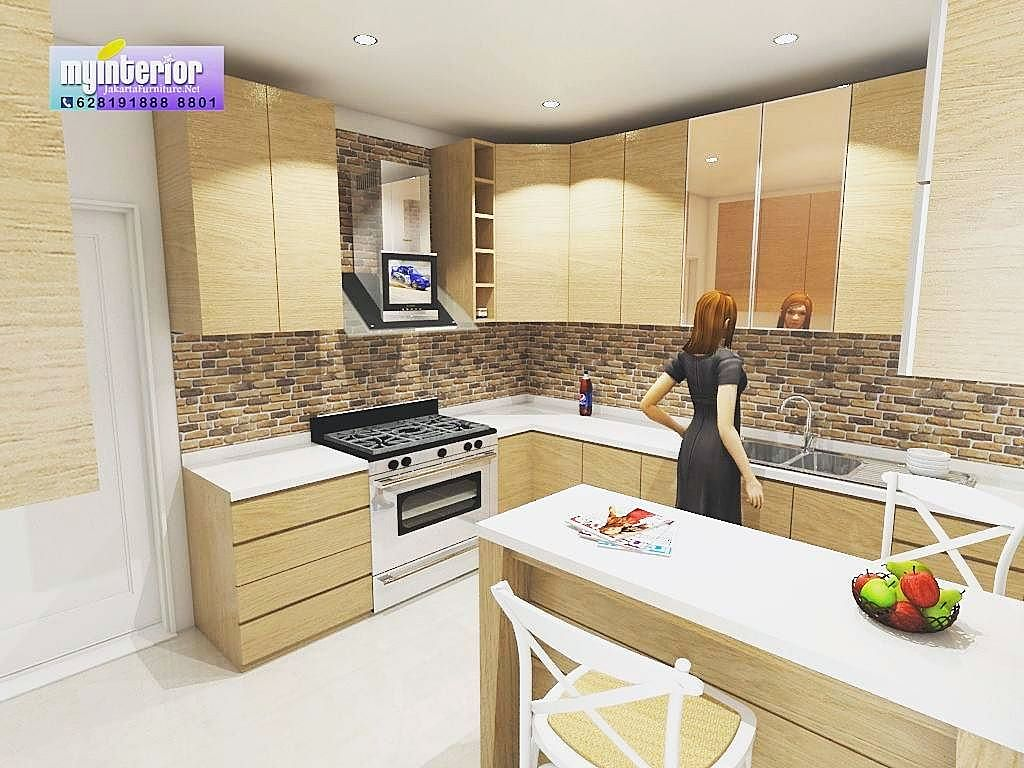Design kitchen set mewah for Kitchen set minimalis modern 2016