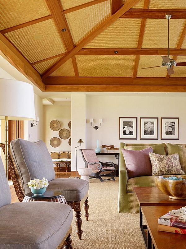 Model Plafon Bambu Ruang Tamu Sederhana Mungil Kecil