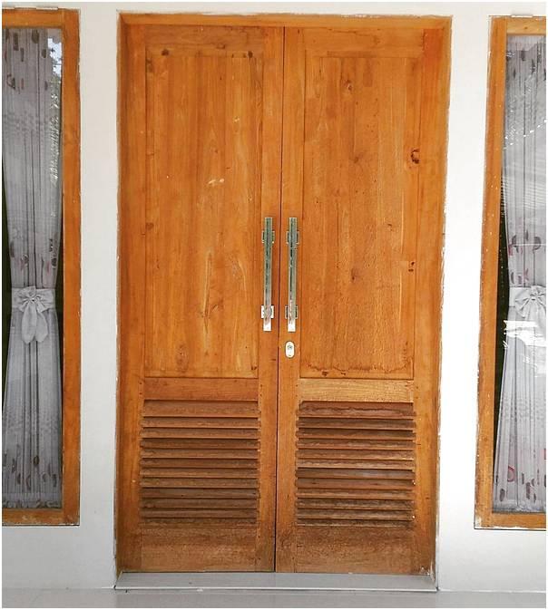 Model desain pintu rumah 2 pintu minimalis terbaru