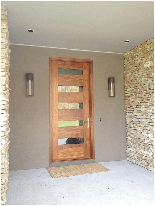 Model desain pintu utama rumah minimalis kayu terbaru