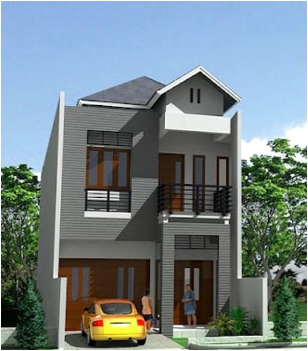 Model Desain Rumah Minimalis 2 Lantai Modern Type 45 Terbaru