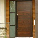 Model pintu utama 1 pintu rumah minimalis terbaru