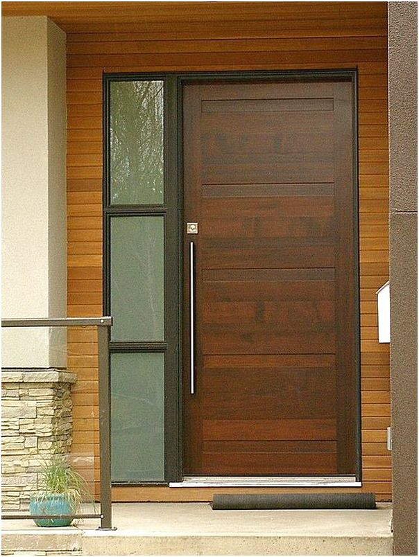 52 desain model pintu utama rumah minimalis terbaru for Entrance door designs for flats in india