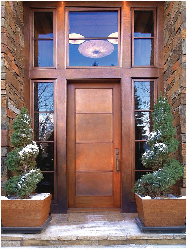Model pintu utama rumah minimalis modern terlengkap terbaru